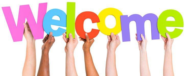 Mensagem boas-vindas